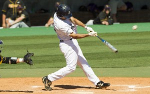 Rendon swinging away in college. Photo: Brett Coomer/Houston Chronicle via chron.com