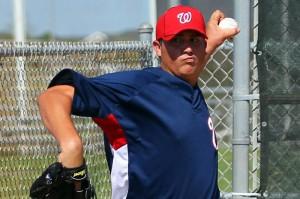 Solis finally debuts in the majors.  Photo via Natsinsider blog/Mark Zuckerman