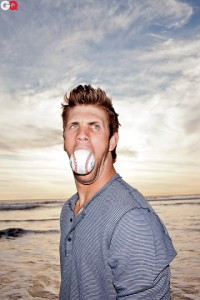 This is what Harper may want his agent to do with a baseball right now. Photo GQ magazine Mar 2012