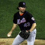 R.A. Dickey throwing another knockler. Photo via wiki/flickr user dbking