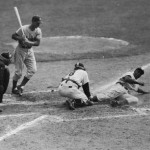 Robinson's most iconic moment; stealing home in the 1955 World Series.