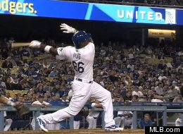 Puig would *make* the home run derby.  photo mlb.com
