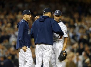 Rivera's last Yankee Apperance. Photo Jim McIsaac/Long Island Newsday.