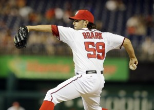 Roark may be odd-man out in the playoffs.  Photo Alex Brandon/AP via wp.com