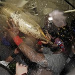 Ortiz is the 2013 WS MVP and drinks from very large bottles.  Photo AP via usatoday.com