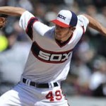Chris Sale singlehandedly doing his best to disprove the Verducci effect.  Photo via landmarknews.com