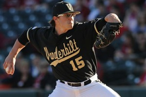 Vanderbilt's ace Fuller helped Vanderbilt win the deciding game 3 in the CWS.  Photo unk via anchorofgold.com