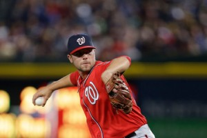 Treinen returns to the Nats for the September run.  Photo via zimbio.com