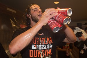 Bumgarner was other-worldly this post-season.  Photo via thebiglead.com