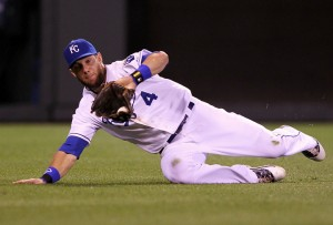 Alex Gordon was one of the best defensive players in baseball, by any measure in 2014.  photo 365rundown.com