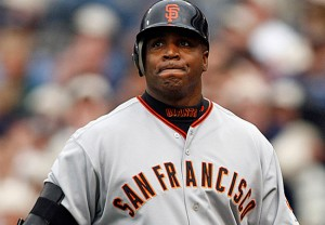 Bonds thinks he was colluded against after his 2007 season.  photo via dailynexus.com