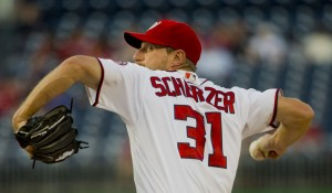 "Scherzer may have the best shot of our 4 ""finalists"" for awards this week. Photo via washtimes.com"