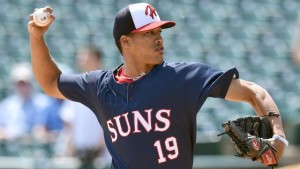 Baez is the highest profile hurler in Potomac to start the year. photo via milb.com