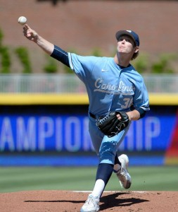 J.B. Bukauskas, three years after being a potential first round pick out of Stone Bridge in Ashburn, may be a top 10 pick in 2017 out of UNC. Photo via chapelboro.com