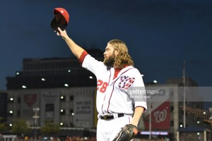 Werth ends his Nats career with a K. Photo via getty images