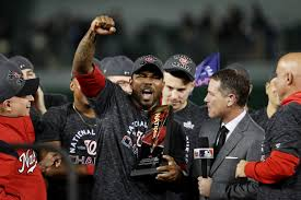 Kendrick deservedly wins NLCS MVP. Photo via bleacherreport.com