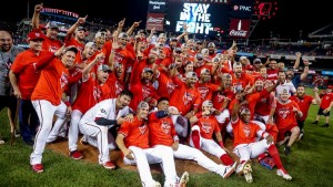 Nats first ever playoff clinching win!  Photo via 9news.com